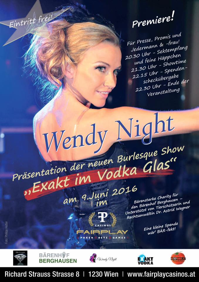 Wendy Night, Burlesque Show im Vodka Glas