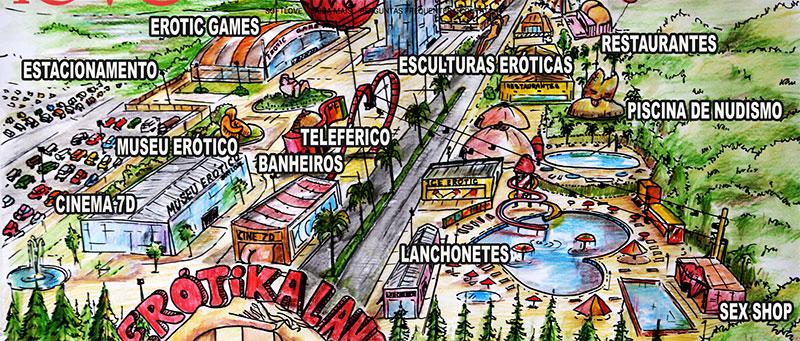 Entwurf des Erotika Land
