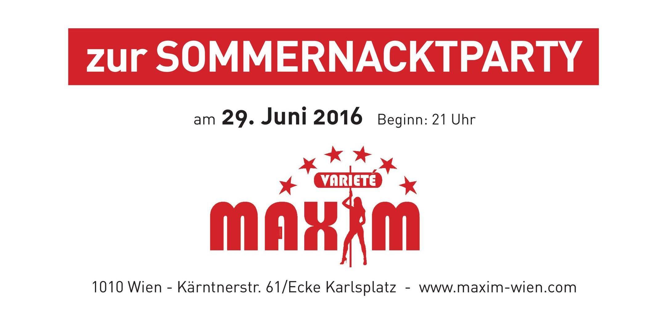 Das Varieté MAXIM Wien lädt zur fulminanten #Sommernacktparty