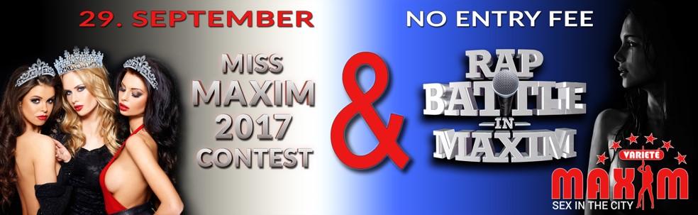 Miss Maxim Wahl und Rap Battle 2017